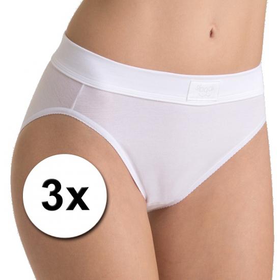 3x ondergoed sloggi double comfort tai dames slip wit
