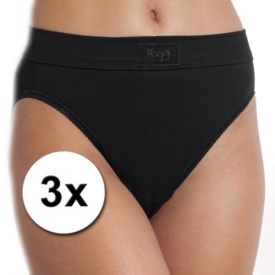 3x ondergoed sloggi double comfort tai dames slip zwart