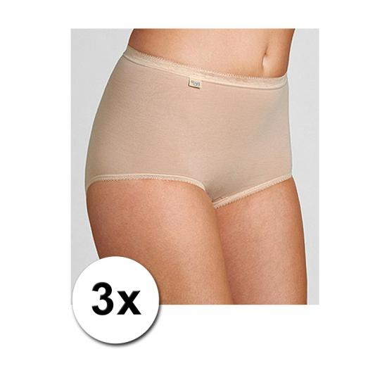 Huidskleurige sloggi damesondergoed basic slip 3x