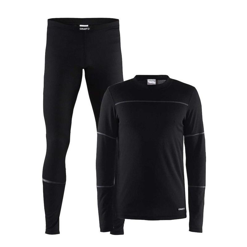 Craft thermo sportkleding ondergoed set zwart voor heren