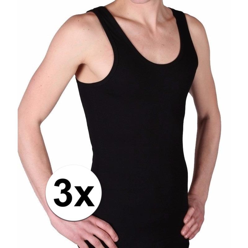 3 pack zwarte beeren heren hemd ondergoed maat 4xl