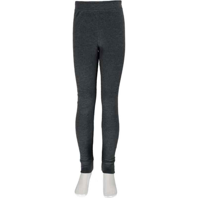 2x grijze kinder thermo broek ondergoed