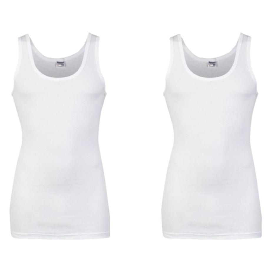 Set van 4x stuks grote maten ondergoed beeren heren hemd wit maat 3xl
